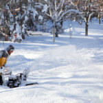 winter snow blowing